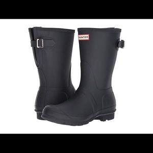 Hunter short rain boots Navy